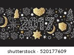 new year 2017 geometric style... | Shutterstock .eps vector #520177609