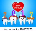 happy new year  with cute... | Shutterstock .eps vector #520178275
