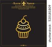 web line icon. cake. birthday... | Shutterstock .eps vector #520181809