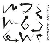 vector illustration arrows set | Shutterstock .eps vector #520185127