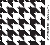 houndstooth classic black and... | Shutterstock .eps vector #520186747