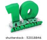 10 years anniversary | Shutterstock . vector #52018846