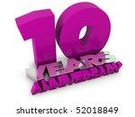 10 years anniversary | Shutterstock . vector #52018849