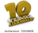 10 years anniversary | Shutterstock . vector #52018858