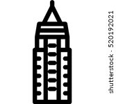 empire state building icon | Shutterstock .eps vector #520192021