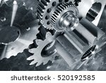 cogwheels and gears of titanium ... | Shutterstock . vector #520192585
