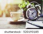 start up concept.coffe cup... | Shutterstock . vector #520193185