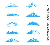 mountain vector set icons