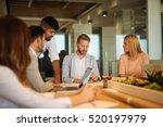 team of business people having... | Shutterstock . vector #520197979