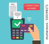 contactless payment. male hand... | Shutterstock .eps vector #520198171