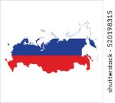flag map of russia | Shutterstock .eps vector #520198315