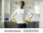 rear view of young woman... | Shutterstock . vector #520201054