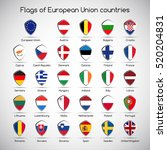 set the flags of european union ... | Shutterstock .eps vector #520204831