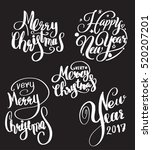 vector set of holidays... | Shutterstock .eps vector #520207201