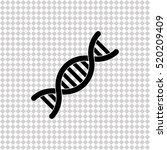 dna   black  vector icon | Shutterstock .eps vector #520209409