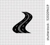 road   black  vector icon | Shutterstock .eps vector #520209619