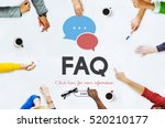 frequently asked questions... | Shutterstock . vector #520210177