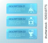 medical horizontal banners with ... | Shutterstock .eps vector #520210771