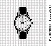 wristwatch   black  vector icon | Shutterstock .eps vector #520210954