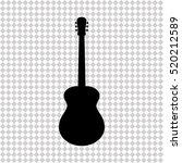 acoustic guitar   black  vector ... | Shutterstock .eps vector #520212589