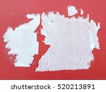 torn paper on a concrete wall | Shutterstock . vector #520213891