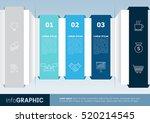 infographics options diagram... | Shutterstock .eps vector #520214545