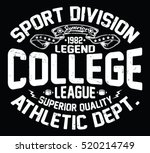 college league  sport... | Shutterstock .eps vector #520214749