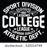 college league  sport... | Shutterstock .eps vector #520214749