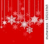 snowflakes. winter holidays... | Shutterstock .eps vector #520215565