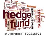 hedge fund word cloud concept | Shutterstock . vector #520216921