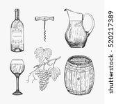 creative sketch of wine...
