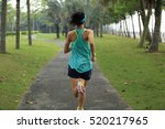 young fitness sports woman... | Shutterstock . vector #520217965