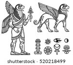 linear drawing  a mythical... | Shutterstock .eps vector #520218499