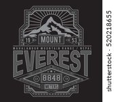 mountain everest typography  t... | Shutterstock .eps vector #520218655