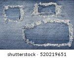 torn denim blue jeans texture... | Shutterstock . vector #520219651