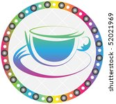 coffee cup button | Shutterstock .eps vector #52021969