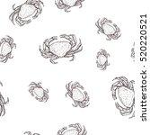 crab. seamless pattern. hand... | Shutterstock .eps vector #520220521