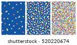 Set Of Joyful Seamless Pattern...