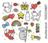 stickers collections in pop art ...   Shutterstock .eps vector #520223887