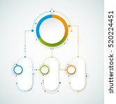vector infographics design... | Shutterstock .eps vector #520224451