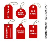 set of red tags. sale promotion ... | Shutterstock .eps vector #520225897