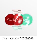 christmas sale stickers  circle ... | Shutterstock .eps vector #520226581