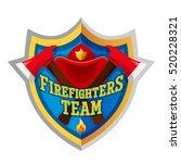 firefighters team   firefighter ... | Shutterstock .eps vector #520228321