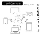 cloud connection . modern... | Shutterstock .eps vector #520230211