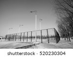 park tennis courts in the snow  ... | Shutterstock . vector #520230304
