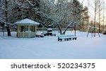 Winter And Snow At Back Yard