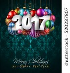 2017 happy new year background... | Shutterstock .eps vector #520237807