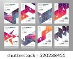set of brochure templates ... | Shutterstock .eps vector #520238455