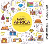 country south africa travel... | Shutterstock .eps vector #520239205