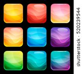 colorful rounded square glossy...